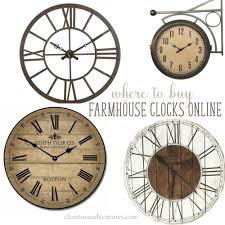 where to farmhouse wall clocks