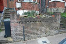 brick front garden wall and steps