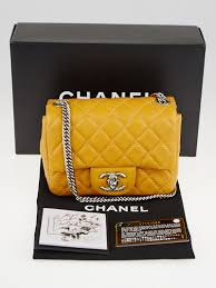 chanel yellow bag. chanel yellow quilted lambskin leather classic mini flap bag