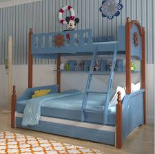Webetop Mediterranean Style Furniture Cartoon Bunk Bed for Kids