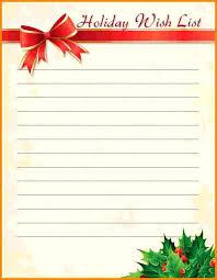 Blank Christmas List Wish List Template Xmas Cute Christmas Free Printable Jaxos Co