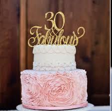 30th Birthday Cake Topper Birthday Cake Topper 30 Fabulous Etsy