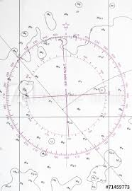 Compass Deviation Chart Navigation Chart Fragment With Compass Deviation Symbol