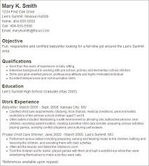 Lofty Babysitter Resume Sample 13 Nanny Resume Example Sample