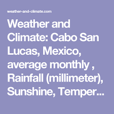 Cabo San Lucas Climate Chart Weather And Climate Cabo San Lucas Mexico Average Monthly