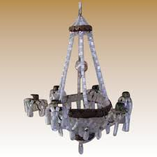 large german doll house miniature beaded antique candle chandelier ornament
