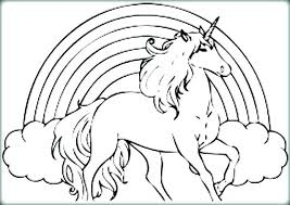 Unicorn Rainbow Coloring Pages Unicorn And Rainbow Coloring Pages Damusic