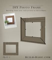 build diy photo frame building plans by buildbasic build basic