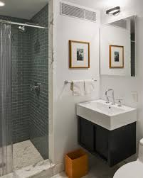 ... Outstanding Bathroom Designs Small Small Bathroom Storage Ideas Glass  Shower Room With White Wastafel ...