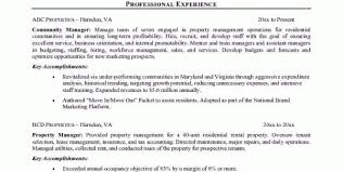 Property Manager Resume Objectives 63 Images Writing A Great