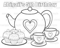 Small Picture Printable Tea Party Free Coloring Pages on Art Coloring Pages