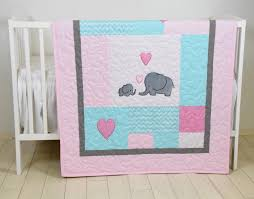 elephant baby quilt mint gray pink crib bedding mint chevron elephant blanket grey safari nursery