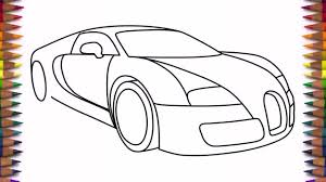 car drawing easy step by step. Delighful Easy How To Draw A Car Bugatti Veyron 2011 Drawing For Beginners And Kids Step  By Easy  YouTube With Car Drawing Easy Step By C