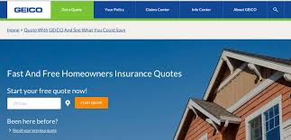 free geico home insurance quote