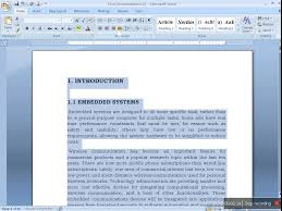 Preparing Document For Project Report In Ms Word - Youtube