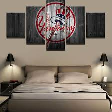 >sports teams ash wall decor new york yankees judge baseball team 5 piece pcs wall art canvas panel print