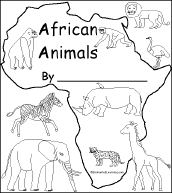 Small Picture print out of an animal book the kids can color and asante can