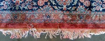 this is a situation that occurs on patterned multi colored area rugs the urine salts are highly alkaline and when left for long periods of time will soften