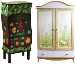 funky furniture and stuff. handpainted furniture rcznie malowane meblethe one on the left funky and stuff