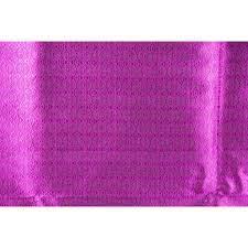 ผ้าไหมมัดหมี่ทอยกดอก (ดอกเต็ม) สีม่วงเม็ดมะปราง ยาว 4 เมตร