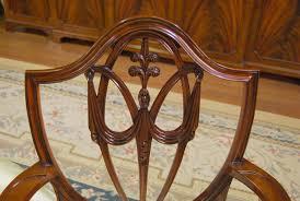 Mahogany Shield Back Dining Chairs Fleur De Lis Shield Back EBay - Shield back dining room chairs
