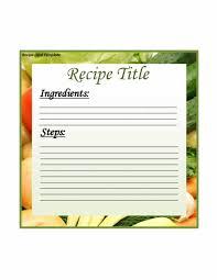 Cookbook Format Template 44 Perfect Cookbook Templates Recipe Book Recipe Cards