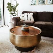 drum storage coffee table coffee