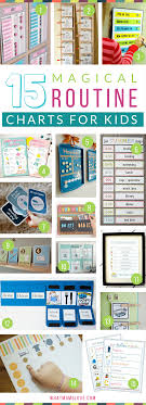 Morning And Bedtime Daily Routine Charts For Kids Perfect