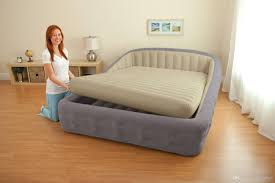 Inflatable Room Blow Up Bed Image Of Queen Blow Up Mattress In Blue Inflatable