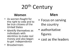 gender roles 8 21st century