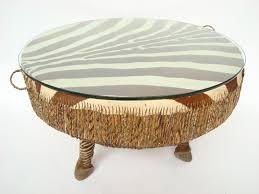 lot 191 a large african zebra skin floor drum