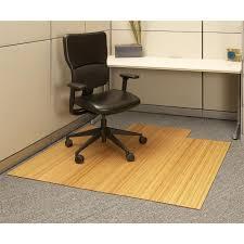 anji mountain bamboo rug co bamboo roll up office chair mat