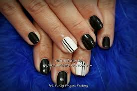 Black and White Gelish nails | FUNKY FINGERS FACTORY
