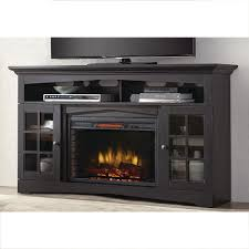home decorators collection avondale grove 59 in tv stand infrared electric fireplace in aged black 365 166 170 y the home depot