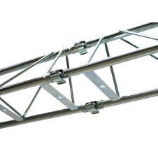 pro audio dj 2 adjule 10 foot crank height tripod stands with truss bar adapters 2 american dj light truss 5 foot sections