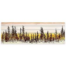parvez taj pine tree sunset white wood wall art on wood pine tree wall art with parvez taj pine tree sunset white wood wall art bed bath beyond