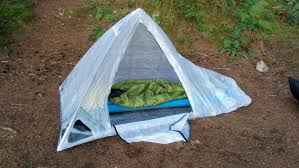 this shows the setup of the tyvek prototype for this tent