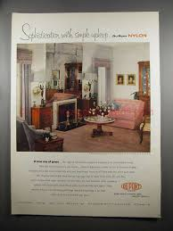 1950S Interior Design Mesmerizing 48 Du Pont Nylon Ad Sophistication Simple Upkeep 48's