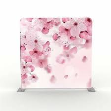 Cherry Blossom Backdrop 8ft 7 5ft Pink Cherry Blossom And Firework City Scene Backdrop Tension Frame
