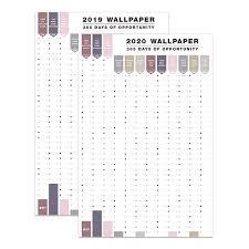 Schedule Calender Us 8 66 26 Off 2pcs Set 2019 2020 Creative Calendar Sticker Label Index Schedule Planner Very Large Study New Year Plan Kids Gift 58 88cm In