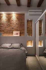 Image Print Bedroom Lighting Along The Brick Wall Is Always Desirable Because It Throws The Emphasis On The Wall Cuded 55 Brick Wall Interior Design Ideas Art And Design