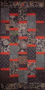 Best 25+ Japanese quilts ideas on Pinterest | Vintage modern ... & Patchwork Quilt - black and red Japanese Bars wall hanging. $90.00, via  Etsy. Adamdwight.com
