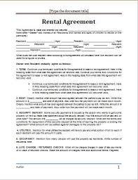 Rental Contract Template Word Lease Agreement Sample Word Metierlink Com