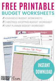 Printable Budgeting Sheets Free Printable Budget Templates Estemplate Ml