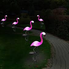 Lantern Pathway Lights 6 Pack Led Solar Flamingo Yard Lantern Solar Powered Pathway Lights