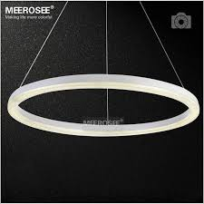 26 inch led ring light fixture crystal pendant light modern led lighting white led re suspension