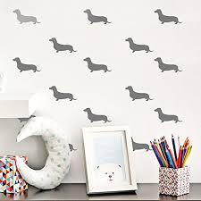chezmax wall decals sticker removable diy decorative wall art wallpaper home 6 pcs silver heart 5 9 x 8 3