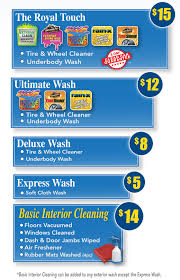 choose from our wide range of wash packages designed to clean and shine your car inside and out