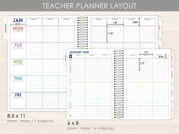 Student Daily Planner With Subjects Student Planner 2019 Student Planner Academic Planner Etsy