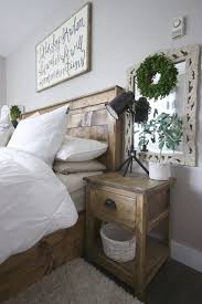 Painted Side Tables In Rustic Bedroom, Farmhouse Bedroom, Distressed White  Side Tables In Bedroom